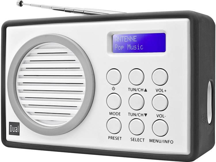 Dual DAB 81 DAB+ Transistorradio DAB+, FM Grijs, Wit