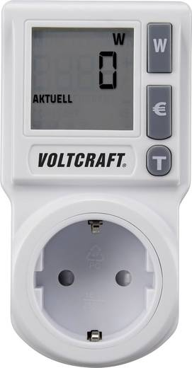 Energiekostenmeter VOLTCRAFT EM 1000BASIC DE Geïntegreerde kinderbeveiliging, Instelbaar stroomtarief, TRMS, Kostenprogn
