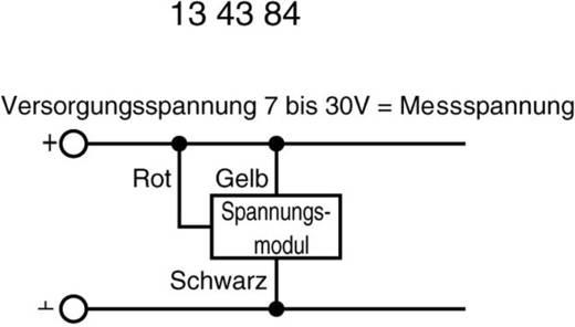 Beckmann & Egle EX2070 LCD-Panelmeter 19,99 V 0 - 19.99 V/DC Inbouwmaten 46 x 26.5 mm