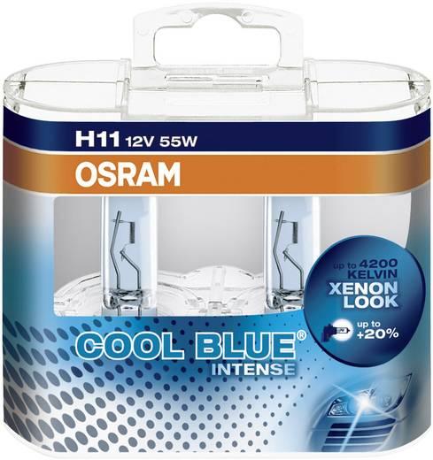 osram cool blue intense h11 64211cbi hcb cool blue intense halogeenlamp h11 55 w. Black Bedroom Furniture Sets. Home Design Ideas