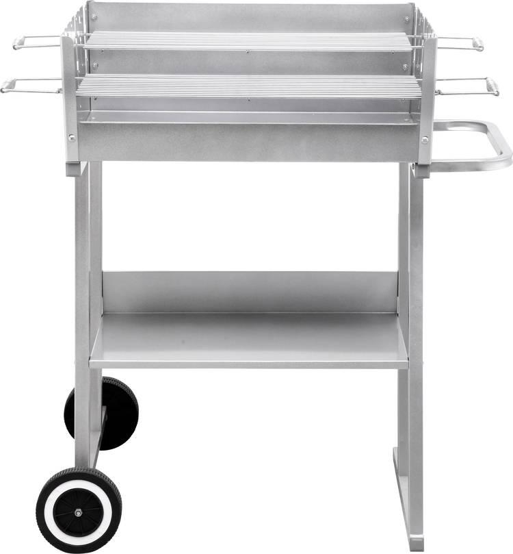 tepro Garten Pasadena Barbecue Grillwagen Met windbescherming Zilver