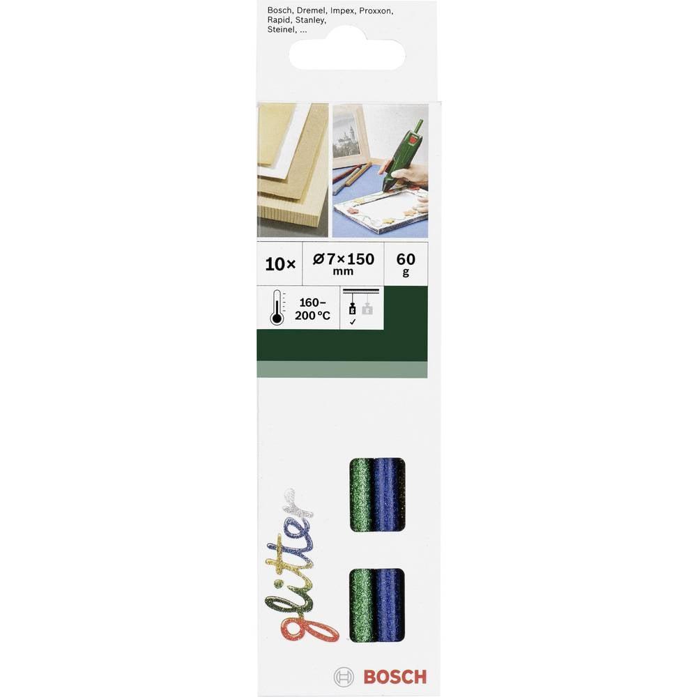 Bosch Accessories 2609256D31 Limstift 7 mm 150 mm Olikfärgat sorterade (Glitter) 60 g 10 st