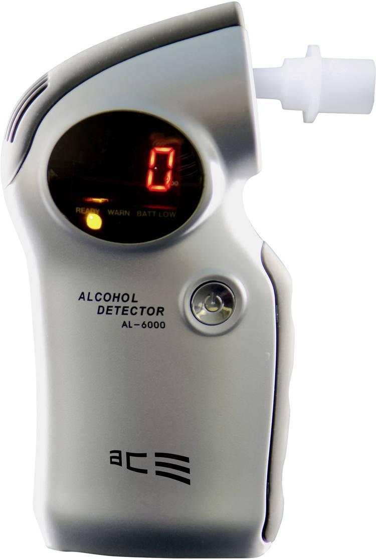 ACE AL6000 Alcoholtester Zilver 0.0 tot 4 ‰ Verwisselbare sensor. Incl. display