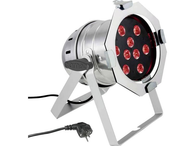 LED PAR-schijnwerper Cameo CLP56Q8WPS Aantal LEDs: 9 x 8 W Metaal
