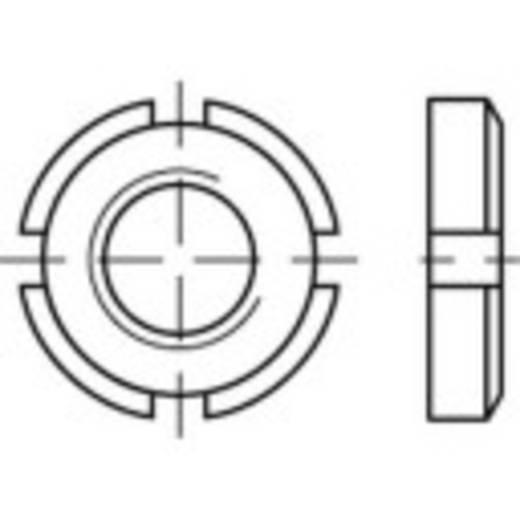 Kruisgleufmoeren M12 1 mm DIN 981 Staal 10 stuks TOOLCRAFT 135131