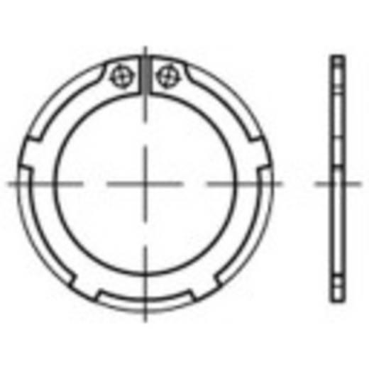 TOOLCRAFT 135190 Zekeringsringen Binnendiameter: 36.5 mm Buitendiameter: 55.1 mm DIN 983 Verenstaal 100 stuks