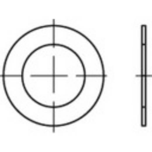 TOOLCRAFT 135432 Passchijven Binnendiameter: 8 mm DIN 988 Staal 100 stuks