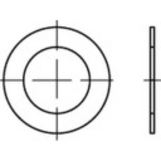 TOOLCRAFT 135466 Passchijven Binnendiameter: 15 mm DIN 988 Staal 100 stuks