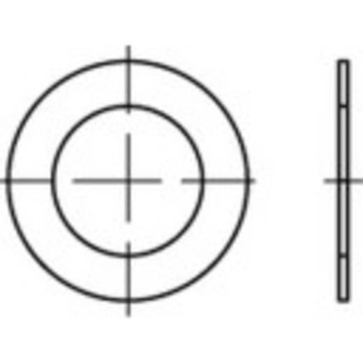 TOOLCRAFT 135470 Passchijven Binnendiameter: 15 mm DIN 988 Staal 100 stuks