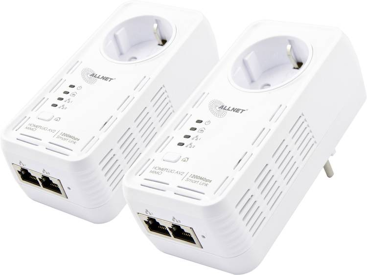 Allnet ALL1681205DOUBLE Powerline starterkit 1200 Mbit-s