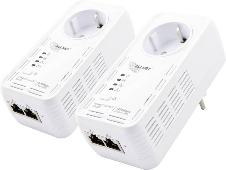 Allnet ALL1681205DOUBLE Powerline starterkit 1200 Mbit-s