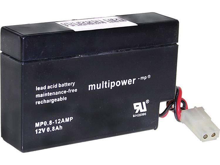 multipower MP0,8-12AMP Loodaccu 12 V 0.8 Ah Loodvlies (AGM) (b x h x d) 96 x 62 x 25 mm
