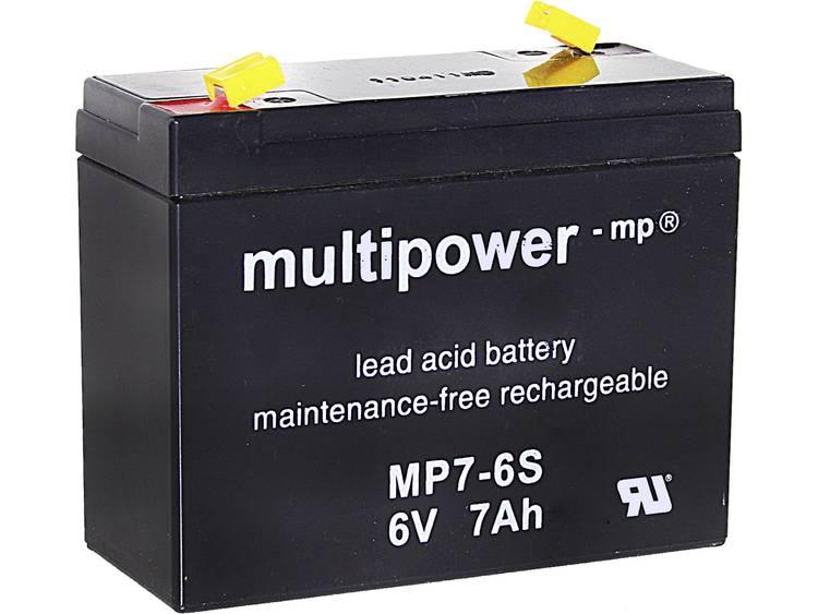 multipower MP7-6S Loodaccu 7 Ah Loodvlies (AGM) Kabelschoen 4.8 mm (b x h x d) 116 x 99 x 50 mm