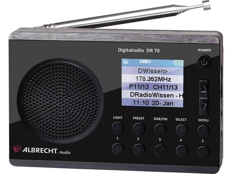 Albrecht DR 70 DAB+ Transistorradio DAB+, FM Zaklamp Zwart