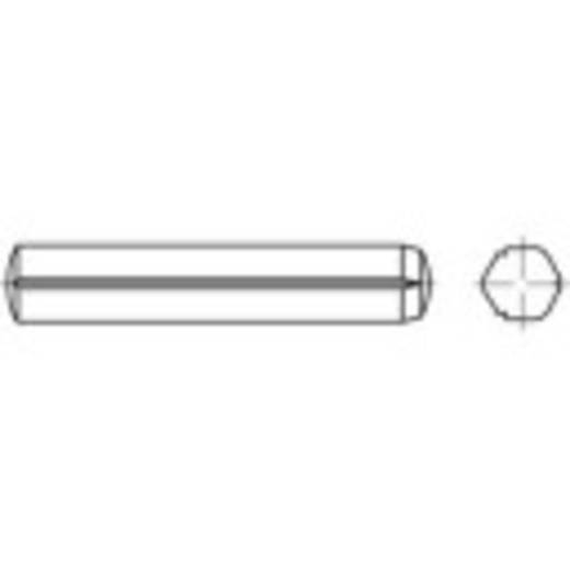 TOOLCRAFT 136248 Cilindrische kerfstift (Ø x l) 4 mm x 45 mm Staal 100 stuks