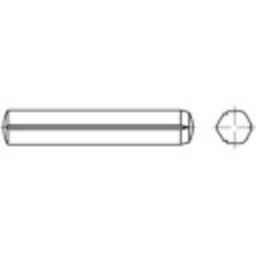 TOOLCRAFT 136292 Cilindrische kerfstift (Ø x l) 6 mm x 80 mm Staal 100 stuks