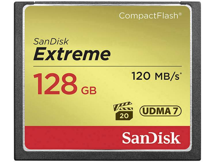 SanDisk Extreme® CF-kaart 128 GB