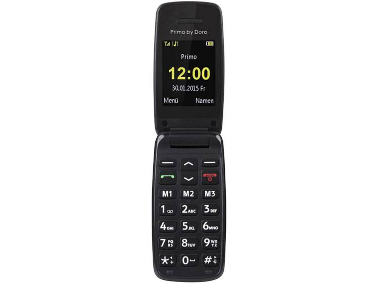 Primo by DORO 401 Senioren clamshell telefoon Zwart kopen