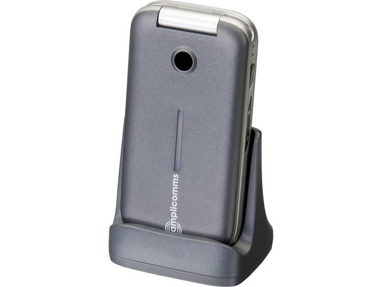 Amplicomms Senioren clamshell telefoon Zilver