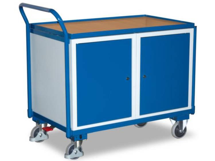 Tafel- en kastwagen,draagverm. 250kg,laadvl. LxB 1000x600mm,2kasten,RAL5010