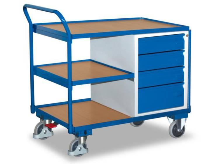 Tafel- en kastwagen,draagverm. 250kg,laadvl. LxB 1000x600mm,3etages,4laden,RAL5010