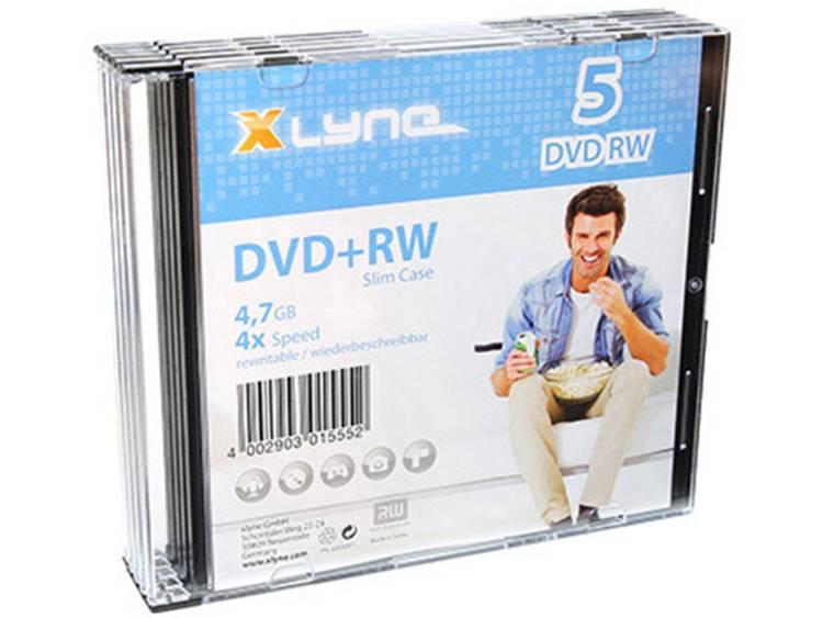DVD+RW disc 4.7 GB Xlyne 6005000S 5 stuks Slimcase Herschrijfbaar