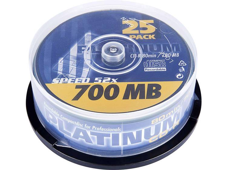 Platinum 102565 CD-R 80 disc 700 MB 25 stuks Spindel