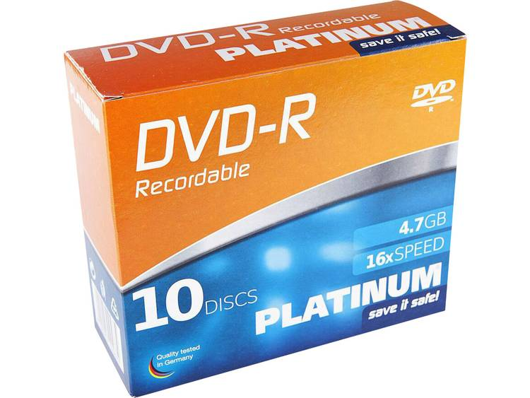 DVD+R disc 4.7 GB Platinum 102566 10 stuks Slimcase