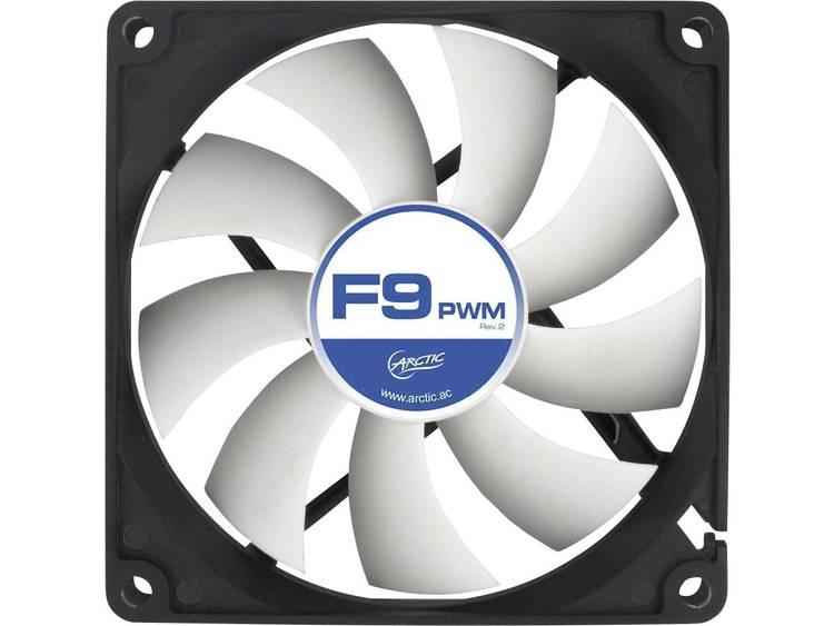 PC ventilator Arctic F9 PWM Rev. 2.0 Zwart, Wit (b x h x d) 92 x 92 x 25 mm