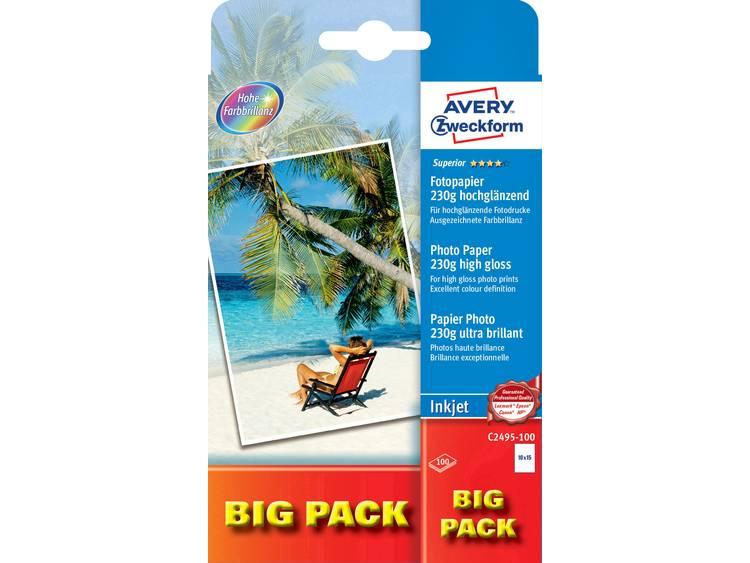 Avery Zweckform Superior Photo Paper Inkjet C2495 100 Fotopapier 10 x 15 cm 230