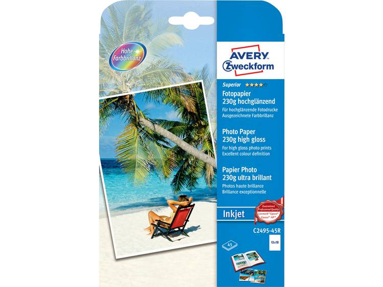 Avery Zweckform Superior Photo Paper Inkjet C2495 45R Fotopapier 13 x 18 cm 230