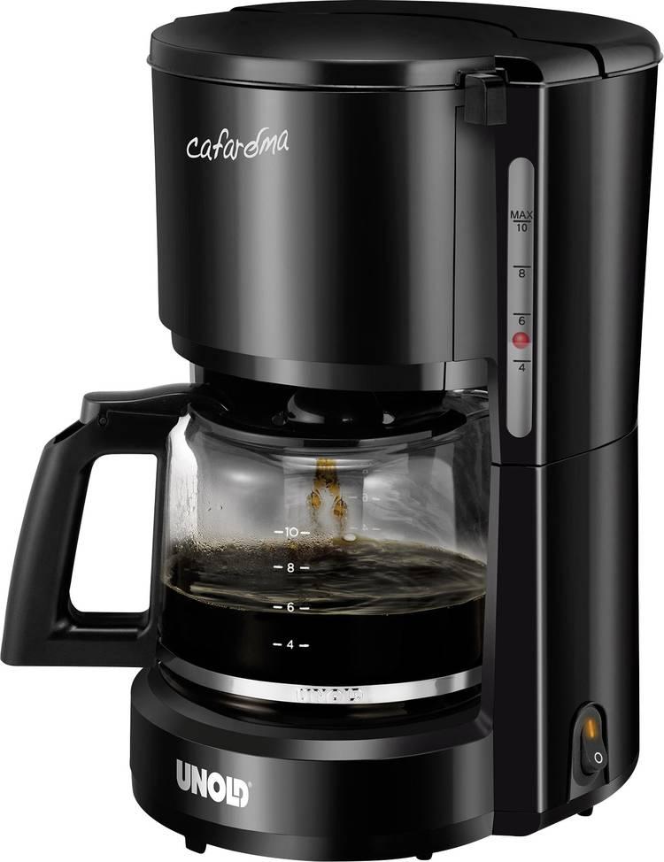 Image of Koffiezetapparaat Unold Compact Zwart Capaciteit koppen=10 Warmhoudfunctie