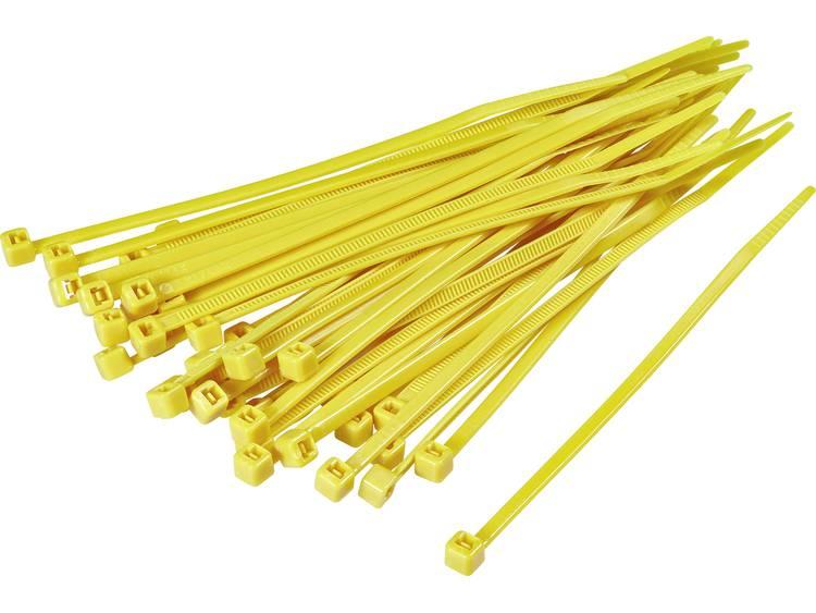 TRU COMPONENTS 1593703 TC-CV250203 Kabelbinder 250 mm Geel 100 stuks