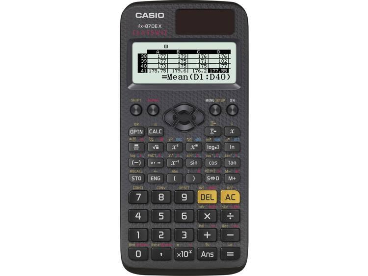 Casio fx 87DE X CLASSWIZ Zwart Aantal displayposities 16 werkt op zonne energie