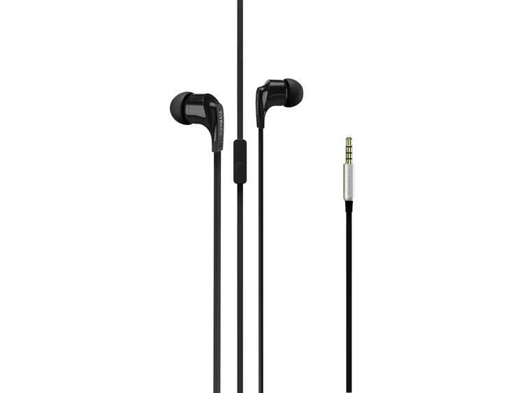Vivanco Kabel Koptelefoon, In Ear, Headset, Zwart