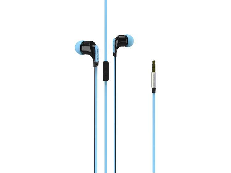 Vivanco Kabel Koptelefoon, In Ear, Headset, Blauw