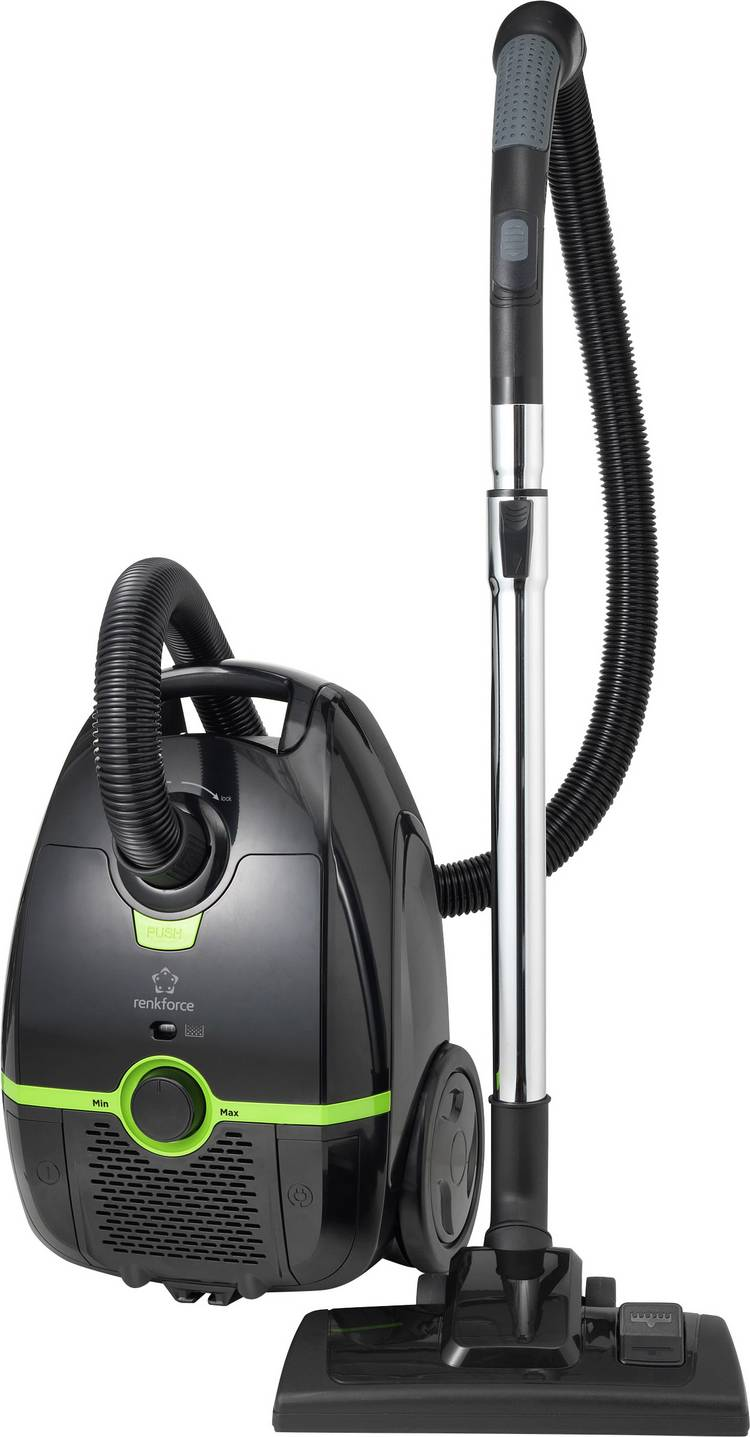 Renkforce Stofzuiger met zak Energielabel: A (A - G) 700 W Zwart-groen