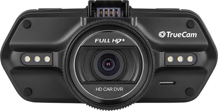 TrueCam A7s Dashcam met GPS Kijkhoek horizontaal (max.): 130  12 V. 24 V Display. Microfoon. Accu