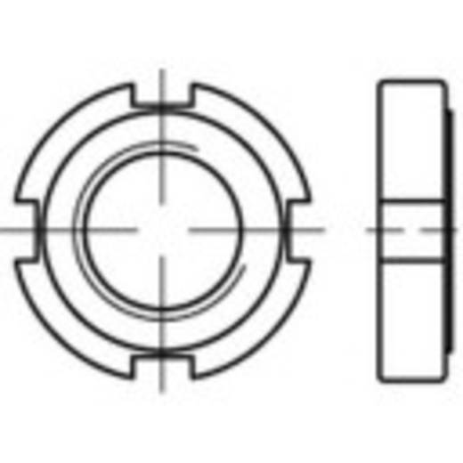 Kruisgleufmoeren M20 DIN 1804 Staal 10 stuks TOOLCRAFT 137218