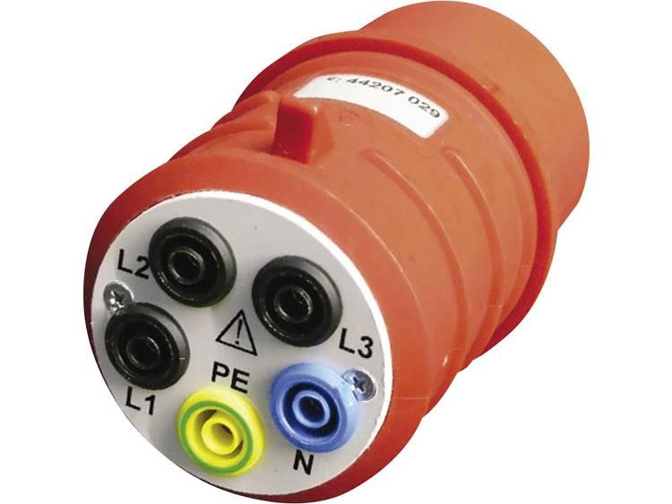 Meetadapter CEE stekker 16 A 5 polig Bus 4 mm Beha Amprobe DAA 16