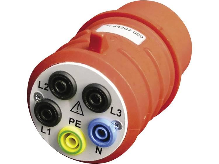 Meetadapter CEE stekker 32 A 5 polig Bus 4 mm Beha Amprobe DAA 32