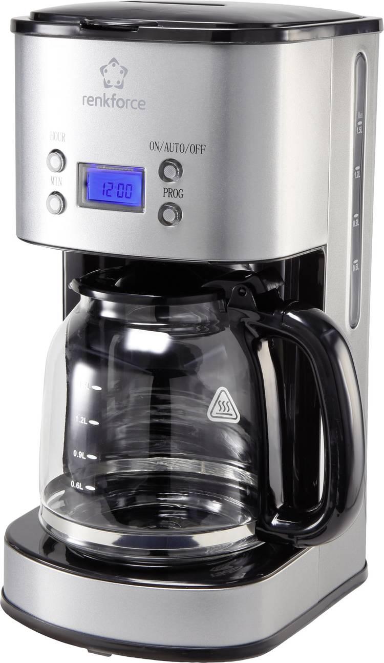 Renkforce CM4216 Koffiezetapparaat RVS. Zwart Capaciteit koppen=12 Display. Timerfunctie