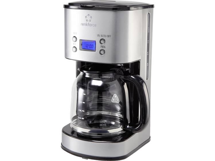 renkforce Koffiemachine RVS, Zwart Capaciteit koppen: 12 Display, Timerfunctie CM4216