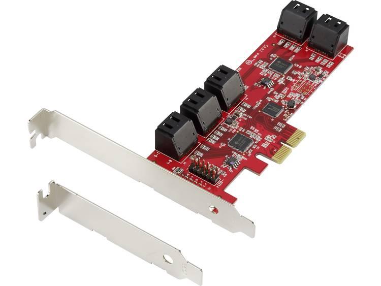 Renkforce 28554C182 0+10 poorten SATA III-controllerkaart PCIe