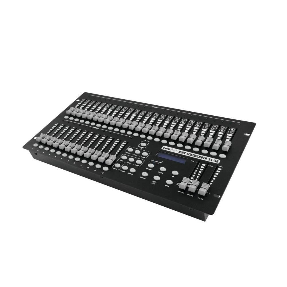 Eurolite DMX Commander 24/48 Controller DMX Controller 48 kanaler 19-konstruktion, Musikstyrning