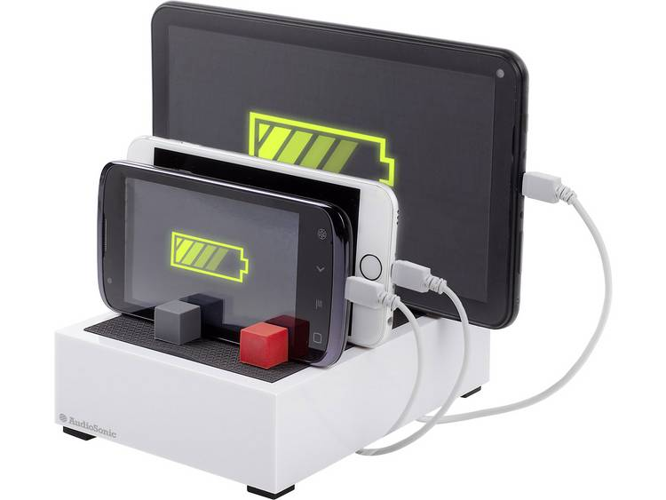 Audiosonic PB-1726 USB-oplader Thuislader Uitgangsstroom (max.) 4500 mA 4 x USB