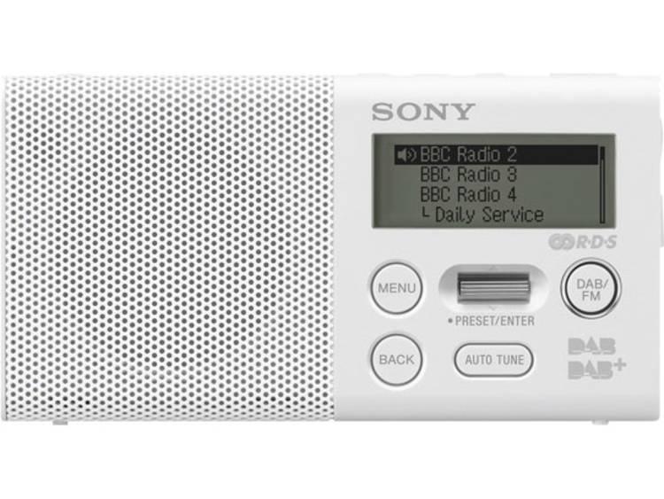 Sony XDR-P1DBP Zakradio DAB+, FM Accu laadfunctie, Herlaadbaar Wit