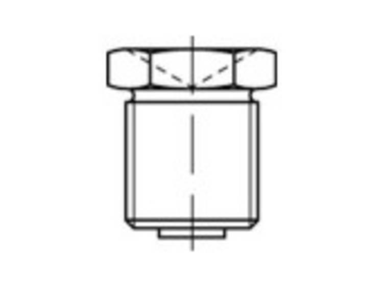 TOOLCRAFT Trechter-smeernippels DIN 3405 Galvanisch verzinkt staal M6 100 stuks