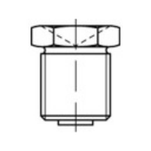 TOOLCRAFT Conische smeernippels DIN 3405 Galvanisch verzinkt staal M6 100 stuks