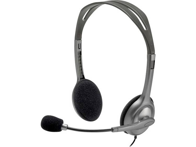 Logitech H111 PC-headset 3.5 mm jackplug Stereo, Kabelgebonden On Ear Grijs